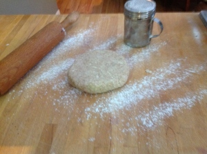 The dough is cold so may need to sit out for a few minutes before rolling.