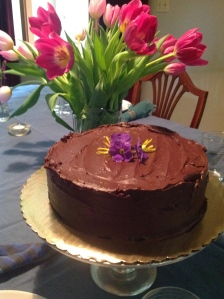 Do final coat of ganache over top & sides, then celebrate spring!