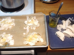 Phyllo noodle nest, splashed with clarified butter, sprinkled with sugar